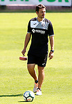 Getafe's physical trainer Javier Vidal during training session. September 12,2017.(ALTERPHOTOS/Acero)