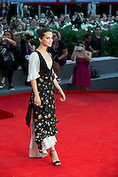 Alicia Vikander at the premiere of The Lights Between Oceans at the 2016 Venice Film Festival.<br /> September 1, 2016  Venice, Italy<br /> Picture: Kristina Afanasyeva / Featureflash