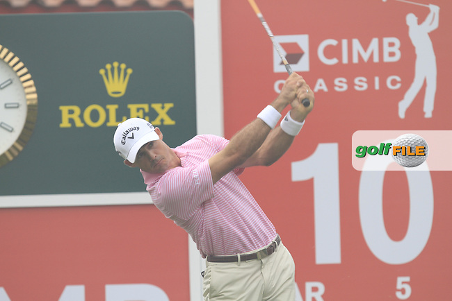 Jonathon Byrd (USA) on the 10th tee during Round 3 of the CIMB Classic in the Kuala Lumpur Golf &amp; Country Club on Saturday 1st November 2014.<br /> Picture:  Thos Caffrey / www.golffile.ie