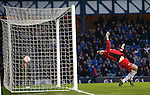 Andy Little's second goal sails into the net past Berwick keeper Ian McCaldon