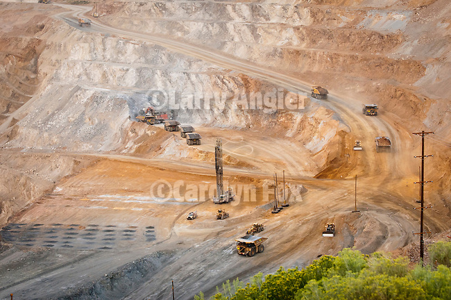 Copper mining in the open pit at Ruth, Nevada...Robinson Operations.