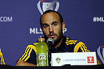 05 December 2014: Los Angeles Galaxy's Landon Donovan. Major League Soccer held a press conference at the StubHub Center in Carson, California two days before the Los Angeles Galaxy hosted the New England Revolution in MLS Cup 2014.