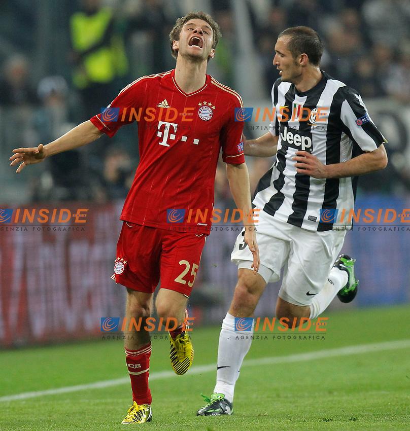 Thomas Muller Bayern, Torino 10/4/2013 .Juventus Stadium.Football Calcio 2012/2013 Champions League.Juventus Vs Bayern München.Foto Marco Bertorello Insidefoto