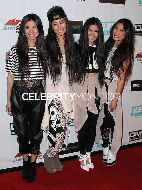 HOLLYWOOD, LOS ANGELES, CA, USA - JUNE 04: Jazmin Sisters at the 2014 Elevate Concert Series held at Avalon Hollywood on June 4, 2014 in Hollywood, Los Angeles, California, United States. (Photo by Xavier Collin/Celebrity Monitor)