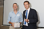 22/07/2015 GP Trainee Awards and Michael Lennard Reception 2015 hosted at The Holiday Inn, Filton, Bristol, by MDU. Professor Bill Irish is presented with a leaving gift by Martin Beaman.