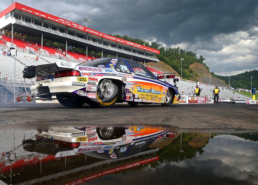 Jun 20, 2015; Bristol, TN, USA; NHRA top sportsman driver XXXX during the Thunder Valley Nationals at Bristol Dragway. Mandatory Credit: Mark J. Rebilas-