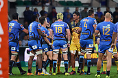 June 3rd 2017, NIB Stadium, Perth, Australia; Super Rugby; Force v Hurricanes;  Sam Lousi of the Hurricanes tussles with a few Force players