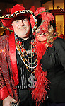 Dale Sheen and Karen Thompson at the Mardi Gras Ball at the Tremont House in Galveston Saturday Feb. 13,2010.(Dave Rossman Photo)