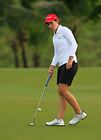 Carlota Ciganda (ESP) in action on the 1st during Round 2 of the HSBC Womens Champions 2018 at Sentosa Golf Club on the Friday 2nd March 2018.<br /> Picture:  Thos Caffrey / www.golffile.ie<br /> <br /> All photo usage must carry mandatory copyright credit (&copy; Golffile | Thos Caffrey)