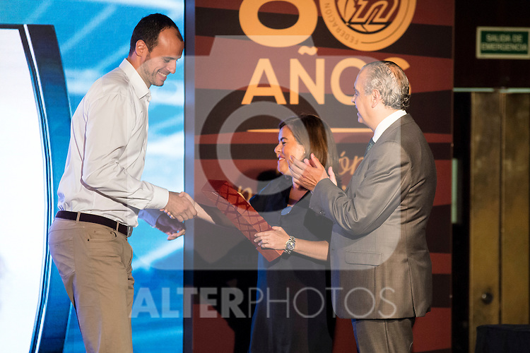 Carlos Jimenez during the 80th Aniversary of the National Basketball Team at Melia Castilla Hotel, Spain, September 01, 2015. <br /> (ALTERPHOTOS/BorjaB.Hojas)