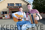 The Brosna Bucks Patrick Moriarty and Daniel Fitzgerald at the Con Curtin festival concert in Brosna parich hall on Friday