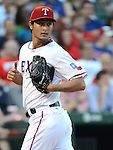Yu Darvish (Rangers),.APRIL 30, 2013 - MLB :.Pitcher Yu Darvish of the Texas Rangers during the baseball game against the Chicago White Sox at Rangers Ballpark in Arlington in Arlington, Texas, United States. (Photo by AFLO)