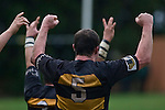 Bombay captain Josh Chamberlain celbrates the final whistle. Counties Manukau Premier Club Rugby game between Bombay & Manurewa played at Bombay on Saturday June 14th 2008..Bombay won 19 - 12 after leading 12 - 0 at halftime.