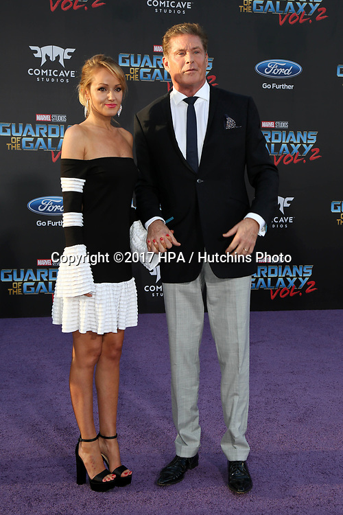 "LOS ANGELES - APR 19:  Guest, David Hasselhoff at the ""Guardians of the Galaxy Vol. 2"" Los Angeles Premiere at the Dolby Theater on April 19, 2017 in Los Angeles, CA"