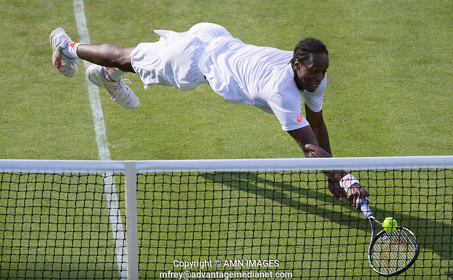 GAEL MONFILS (FRA)<br /> <br /> The Championships Wimbledon 2014 - The All England Lawn Tennis Club -  London - UK -  ATP - ITF - WTA-2014  - Grand Slam - Great Britain -  24th June 2014. <br /> <br /> &copy; AMN IMAGES