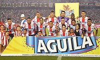 BARRANQUILLA -COLOMBIA-8-JUNIO-2016. Formación del Atlético Junior contra el Atlético Nacional    durante partido por las semifinales-semifinales ida de la Liga Águila I 2016 jugado en el estadio Metropolitano Roberto Meléndez./Team of  of  Atletico Junior against  of  Atletico  Nacional during the match  of  semifinales of the Aguila League I 2016 played at Metroplitano Roberto Melendez . Photo: VizzorImage / Alfonso Cervantes  / Contribuidor