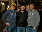 Oxford CT-011919MK21 (from left) Brandon Collins, Mark Lennon nad Tyler Jones gathered at Black Hog Brewing Co. in Oxford. for a fund raising event that featured 26 breweries from all over New England along with artisan snack vendors and food trucks.  Organizers hoped to raise over $3000 to benefit The Connecticut Children's Medical Center. Michael Kabelka / Republican American