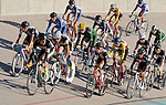 September 17, 2015 - Colorado Springs, Colorado, U.S. - Collegiate cyclists at the beginning of a points race qualifier during the USA Cycling Collegiate Track National Championships, United States Olympic Training Center Velodrome, Colorado Springs, Colorado.