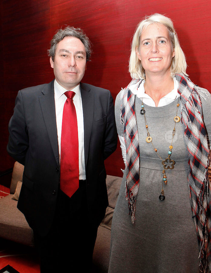 *** NO FEE PIC***.09/11/2011.(L to r) Mark Kelly Director Irish Council for Civil Liberties & .Christina Meinecke-Chalev .during an Amnesty International Ireland & the Irish Council for Civil Liberties Information evening on the 'Dublin Process' of Treaty Body Reform at the Radisson Blu Royal Hotel, Golden Lane, Dublin..Photo: Gareth Chaney Collins