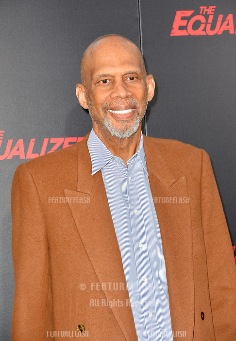 Kareem Abdul-Jabbar at the premiere for &quot;The Equalizer 2&quot; at the TCL Chinese Theatre, Los Angeles, USA 17 July 2018<br /> Picture: Paul Smith/Featureflash/SilverHub 0208 004 5359 sales@silverhubmedia.com