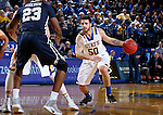 BROOKINGS, SD - FEBRUARY 4:  Michael Orris #50 from South Dakota State University looks to drive against Oral Roberts during their game Saturday afternoon at Frost Arena in Brookings.(Photo by Dave Eggen/Inertia)