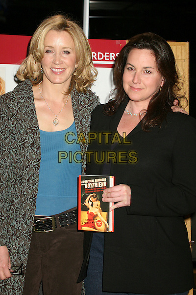 "FELICITY HUFFMAN & PATRICIA WOLFF.""A Practical Handbook For The Boyfriend"" Book Signing at Borders Books & Music, Westwood, California, USA..January 31st, 2007.half length jacket coat black grey gray.CAP/ADM/BP.©Byron Purvis/AdMedia/Capital Pictures"