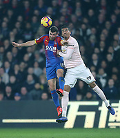 Crystal Palace's James McArthur and Manchester United's Chris Smalling<br /> <br /> Photographer Rob Newell/CameraSport<br /> <br /> The Premier League - Wednesday 27th February 2019  - Crystal Palace v Manchester United - Selhurst Park - London<br /> <br /> World Copyright © 2019 CameraSport. All rights reserved. 43 Linden Ave. Countesthorpe. Leicester. England. LE8 5PG - Tel: +44 (0) 116 277 4147 - admin@camerasport.com - www.camerasport.com