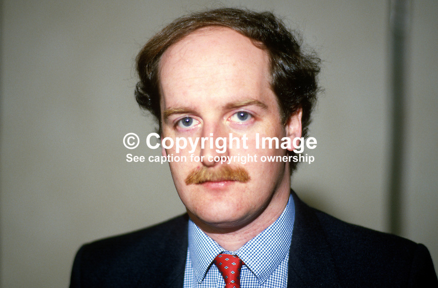 Tom Campbell, chief whip, Alliance Party of N Ireland, UK, 19880402TC..Copyright Image from Victor Patterson, 54 Dorchester Park, Belfast, UK, BT9 6RJ..Tel: +44 28 9066 1296.Mob: +44 7802 353836.Voicemail +44 20 8816 7153.Skype: victorpattersonbelfast.Email: victorpatterson@me.com.Email: victorpatterson@ireland.com (back-up)..IMPORTANT: If you wish to use this image or any other of my images please go to www.victorpatterson.com and click on the Terms & Conditions. Then contact me by email or phone with the reference number(s) of the image(s) concerned.