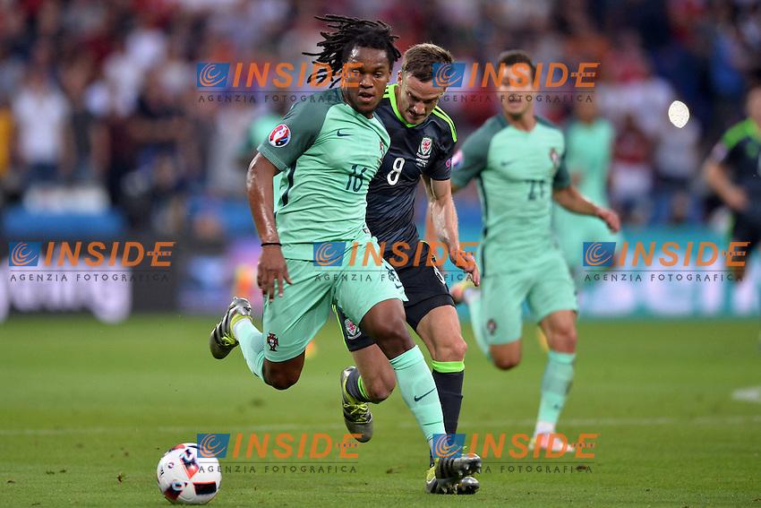 Renato Sanches (por) - Andy King (gal)<br /> Lyon 06-07-2016 Stade de Lyon Football Euro2016 Portugal - Wales / Portogallo - Galles Semi-finals / Semifinali <br /> Foto Anthony BIBARD Panoramic / Insidefoto