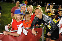 Boyds, MD - Saturday August 26, 2017: Fans, DiDi Haracic during a regular season National Women's Soccer League (NWSL) match between the Washington Spirit and the Chicago Red Stars at Maureen Hendricks Field, Maryland SoccerPlex.