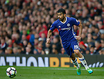 Diego Costa of Chelsea in action during the English Premier League match at Old Trafford Stadium, Manchester. Picture date: April 16th 2017. Pic credit should read: Simon Bellis/Sportimage