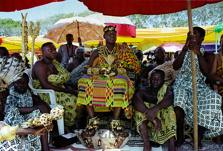 Ashanti chief at Durbar of tribal chiefs in Accra, Ghana, Africa