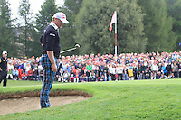 Jamie Donaldson (WAL) on the 5th during the final day of the Omega European Masters, Crans-Sur-Sierre, Crans Montana, Switzerland.4/9/11.Picture: Golffile/Fran Caffrey..