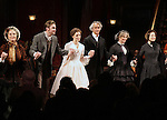 Caitlin O'Connell, Dan Stevens, Jessica Chastain, David Strathairn, Judith Ivey and Company  during the Broadway Opening Night Performance Curtain Call for 'The Heiress' at The Walter Kerr Theatre on 11/01/2012 in New York.