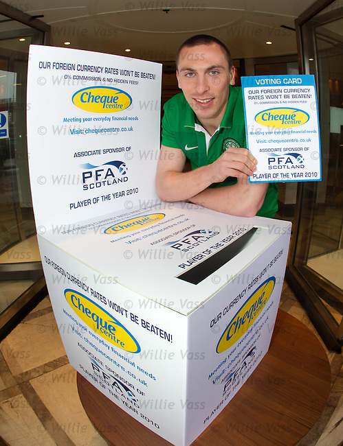 Scott Brown launches the PFA Scotland 2010 player of the year awards at the Hilton Hotel, Glasgow
