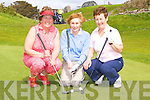 Mary Keane Dooks, Enda O'Sullivan and Agnes O'Connor Skellig Bay on the 18th green at the Skellig Bay Lady captain day on Sunday   Copyright Kerry's Eye 2008