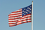 15-star US flag flying over historic Fort Moultrie
