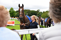 Runners viewed from outside the Parade Ring during Afternoon Racing at Salisbury Racecourse on 7th August 2017