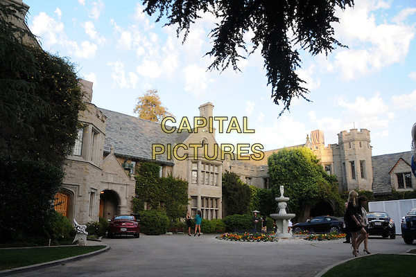 PLAYBOY MANSION. 4th Annual Sports Dream Celebrity Poker and Pool Party Celebrating the 2010 ESPY Awards held at the Playboy Mansion, Beverly Hills, California, USA..July 12th, 2010.atmosphere gv general view house home drive driveway fountain .CAP/ADM/BP.©Byron Purvis/AdMedia/Capital Pictures.