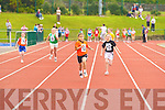 Sarah Leahy Killarney South leads the field in the u10 100m heat at the Denny County Community Games in An Riocht Castleisland on Sunday   Copyright Kerry's Eye 2008