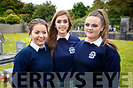 Cara Quinlan, Aisling Thornton and Miriam Dowling, students from Presentation Secondary School, Tralee, pictured at the end of year graduation on Friday last.