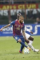 MILANO 28 MARZO 2012, MILAN - BARCELLONA,QUARTI DI FINALE UEFA CHAMPIONS LEAGUE 2011 - 2012, NELLA FOTO: DANIEL ALVES , FOTO DI ROBERTO TOGNONI.
