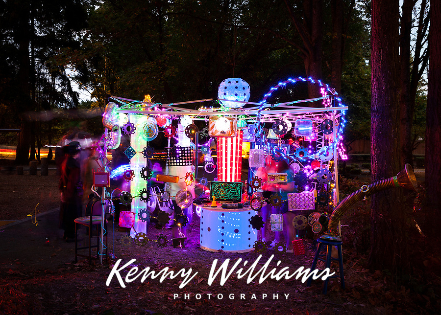 Magical Light Art Installation, Arts-A-Glow Festival, Dottie Harper Park, Burien, WA, USA.
