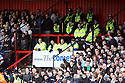 Police separate fans during the  Blue Square Premier match between Stevenage Borough and Luton Town at the Lamex Stadium, Broadhall Way, Stevenage on Saturday 3rd April, 2010..© Kevin Coleman 2010 .