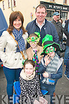 In great mood at the St Patrick's parade in Castleisland were Sam, Eileen & Amy Leah with Sammy O'Sullivan.