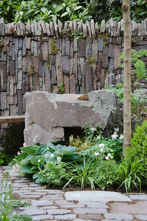 The Un Garreg (One Stone) Garden, designed by Harry and David Rich, Artisan Garden Gold medal winner, RHS Chelsea Flower Show 2013.