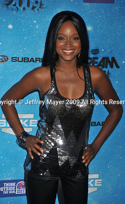 LOS ANGELES, CA. - October 17: Tanedra Howard arrives at Spike TV's Scream 2009 held at the Greek Theatre on October 17, 2009 in Los Angeles, California.
