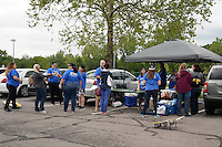 Kansas City, MO - Friday May 13, 2016: Fans gather in the parking lot before the game. FC Kansas City and the Chicago Red Stars played to a 0-0 tie during a regular season National Women's Soccer League (NWSL) match at Swope Soccer Village.