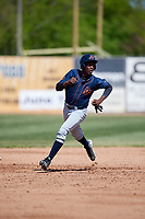 Bowling Green Hot Rods left fielder Jesus Sanchez (7) runs the bases during a game against the Beloit Snappers on May 7, 2017 at Pohlman Field in Beloit, Wisconsin.  Bowling Green defeated Beloit 6-2.  (Mike Janes/Four Seam Images)