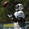 Titus Davis #84 of the New York Jets makes a catch during team training camp at Atlantic Health Jets Training Center in Florham Park, NJ on Friday, Aug. 5, 2016